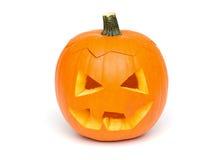 Halloween - Pumpkin Face on White Background Stock Photo