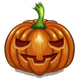Halloween pumpkin face. On white background vector illustration Royalty Free Stock Images