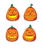 Halloween pumpkin faces Stock Photo