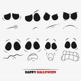 Halloween pumpkin faces. Set for your design Stock Image