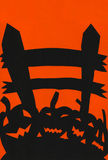 Halloween Pumpkin and Fence illustration. With Place for your text Stock Images