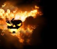 Halloween pumpkin fire 3d. Render Royalty Free Stock Photos