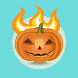 Halloween pumpkin flat design icon Royalty Free Stock Photo