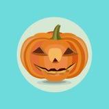 Halloween pumpkin flat design vector Royalty Free Stock Photos