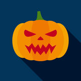 Halloween Pumpkin  in Flat Style Royalty Free Stock Images