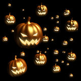 Halloween pumpkin floating Stock Images