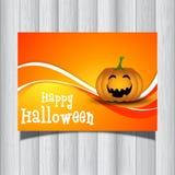 Halloween pumpkin flyer vector illustration