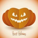 Halloween Pumpkin in Folded Paper Stock Photos