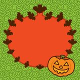Halloween Pumpkin Frame Background Royalty Free Stock Photo