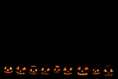 Halloween pumpkin frame down located. Background Stock Images