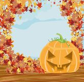 Halloween pumpkin frame Stock Photos