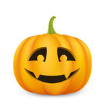Halloween pumpkin. Friendly looking Jack o'Lantern with vampire fangs. EPS10 Stock Photography