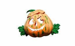 Halloween Pumpkin, funny Jack O'Lantern on white background Stock Photo