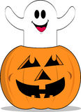 Halloween Pumpkin  Ghost Revised Stock Image