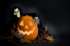 Halloween Pumpkin & Ghoul stock image