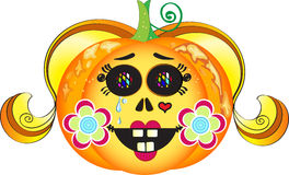 Halloween pumpkin girl Royalty Free Stock Images