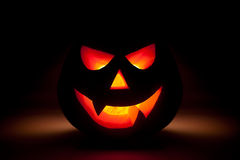 Halloween pumpkin glow from dark Stock Photography