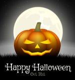 Halloween pumpkin on grass Stock Photography