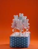 Homemade marshmallow lollipop Stock Photography