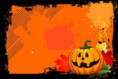Halloween. And pumpkin with grunge background Stock Photography