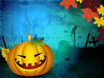 Halloween pumpkin on grungy backgrond Royalty Free Stock Photography