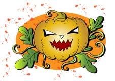 Halloween Pumpkin. Hand drawing illustration Stock Image