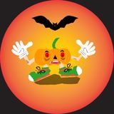 Halloween pumpkin with happy face royalty free illustration