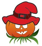Halloween pumpkin with hat Royalty Free Stock Photography