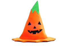 Halloween pumpkin hat Stock Photos