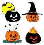 Halloween pumpkin head Stock Image