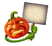 Halloween Pumpkin Head Stock Photo