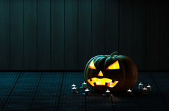 Halloween Pumpkin Head. Royalty Free Stock Photography
