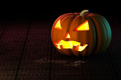 Halloween Pumpkin Head. Royalty Free Stock Image