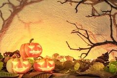 Free Halloween Pumpkin Head Glowing In Spooky Background Stock Photo - 128860830