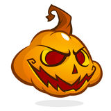 Halloween Pumpkin head isolated on white. Scary Jack. Vector illustration Stock Images