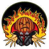 Halloween Pumpkin Head Jack Emblem Royalty Free Stock Photography