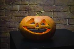 Halloween pumpkin head jack lantern on background Stock Photos