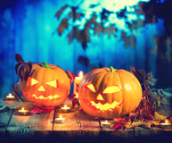 Halloween pumpkin head jack lantern Royalty Free Stock Photo