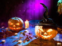 Halloween pumpkin head jack lantern Royalty Free Stock Photos
