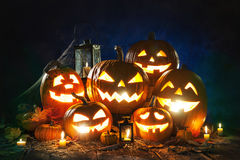 Halloween pumpkin head jack lantern Royalty Free Stock Image