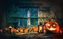 Halloween pumpkin head jack lantern Stock Photography