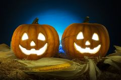 Halloween Pumpkin head jack lantern. Halloween concept stock photography