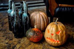 Halloween pumpkin head jack lantern. Stock Image