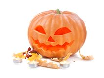 Halloween pumpkin head jack lantern Royalty Free Stock Photos