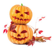 Halloween pumpkin head jack lantern Royalty Free Stock Image