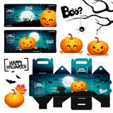 Halloween pumpkin head jack lantern poster. Halloween pumpkin head jack ticket Stock Photography