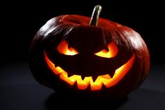 Halloween pumpkin head Stock Images