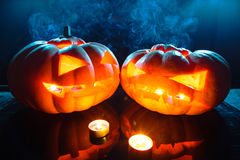 Halloween pumpkin head jack lantern Stock Image