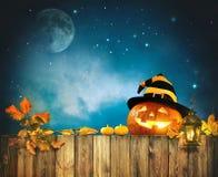 Halloween pumpkin head jack lantern Stock Photos