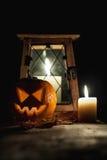 Halloween pumpkin head Stock Images